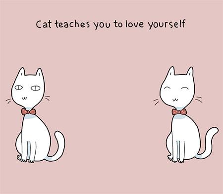 图说:有只猫的好处